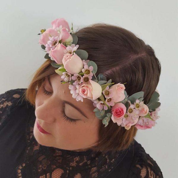 Pink Roses Flower Crown