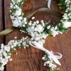 White Mum & Baby Flower Crown Delicate Full