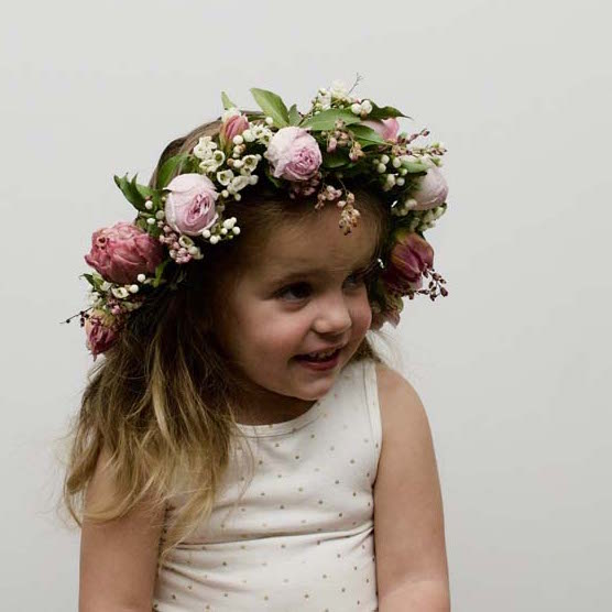 Pinks Lavish Full Flower Crown Child