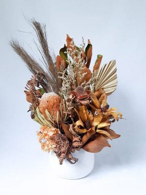 Small Dried Flower Bouquet by Pot and Posy