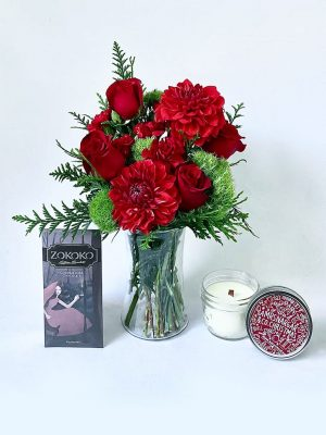 Christmas Vibes Gift Pack Pot and Posy