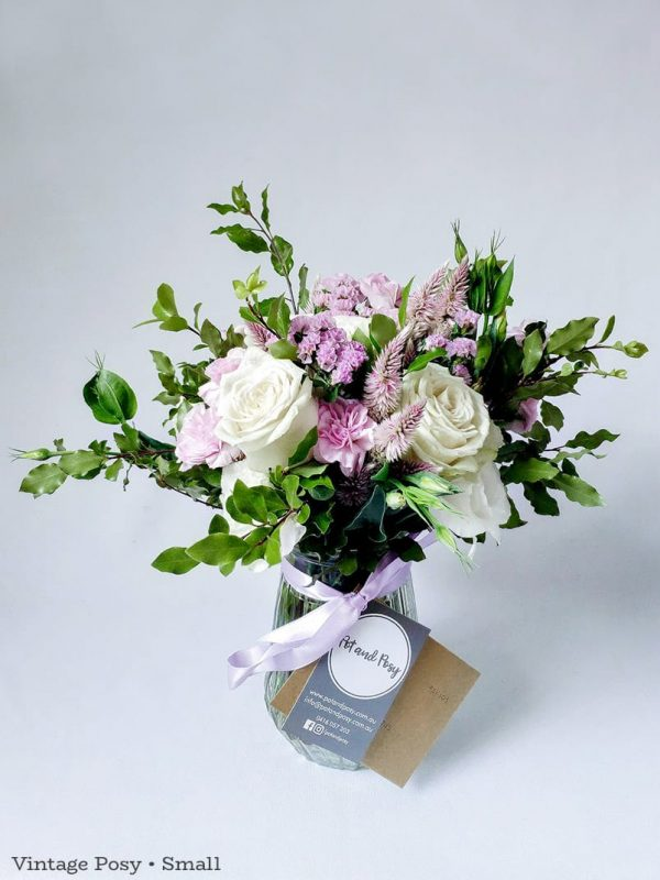 Vintage Posy in Vase • Small