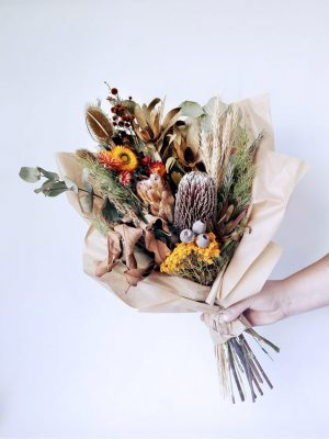 Dried Flower Posy arrangements by Pot and Posy