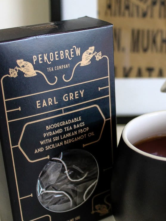 PekoeBrew Earl Grey Tea in Biodegradable Pyramid Tea Bags