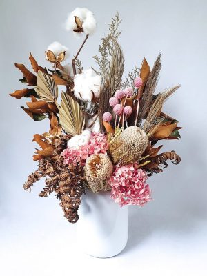Large Dried Flower Bouquet Blush