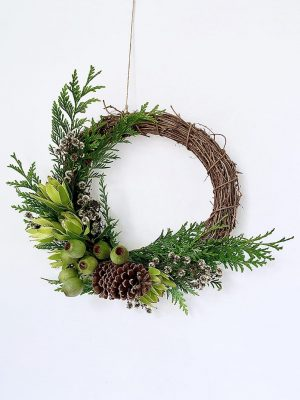 DIY Christmas Wreath Kit by Pot and Posy