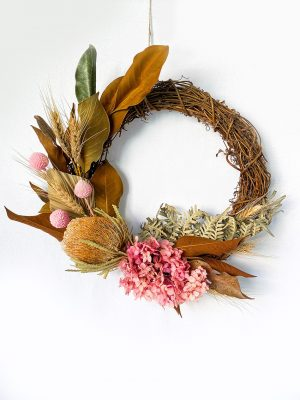 Dried Wreath - Blush