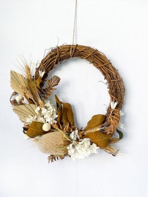 Dried Wreath - White