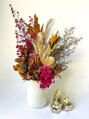 Large Dried Bouquet – Magenta