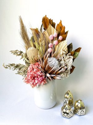 Large Dried Flower Bouquet - Blush