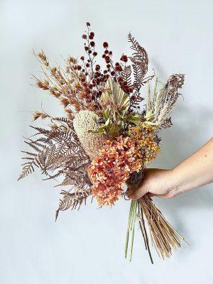 Dried Flower Posy • Orange