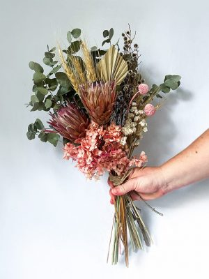 Dried Flower Posy • Pink