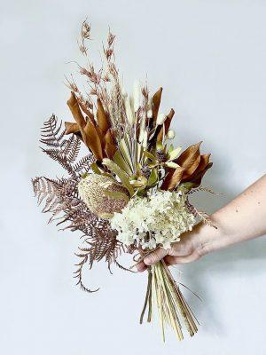 Dried Flower Posy • White
