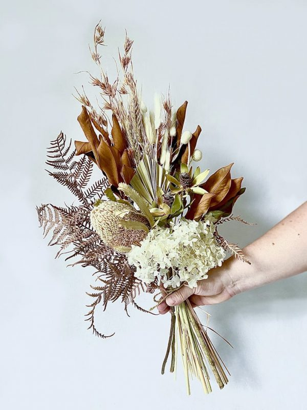 Dried Flower Posy • White