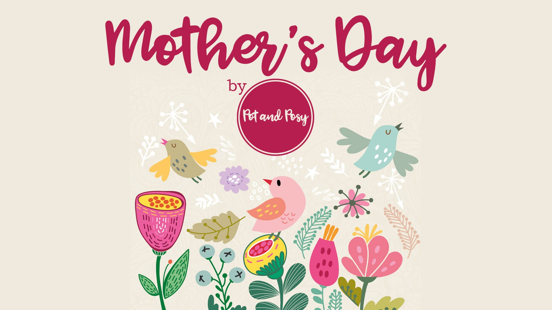 Mother's Day banner by Pot and Posy