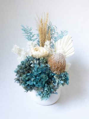 Blue Dried Flower Bouquet