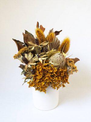 Dried Flower Bouquet Mustard